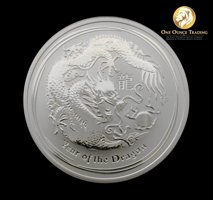 1 Oz Silver Lunar Dragon Bu 2012 With Capsule One