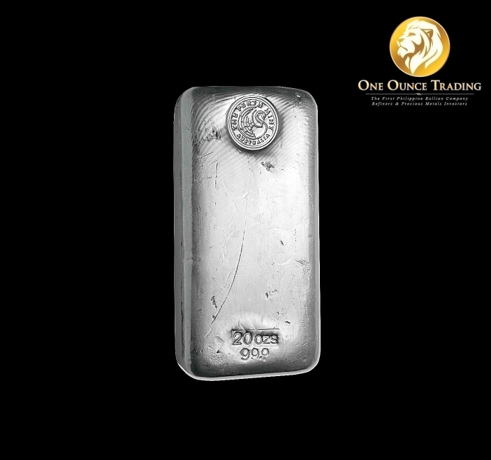20 Oz Perth Mint Silver Bar Poured One Ounce Trading