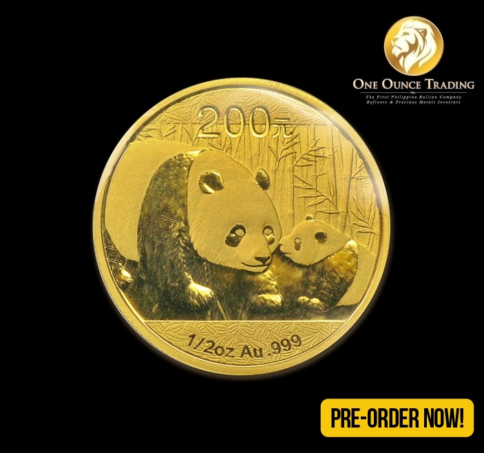 1 2 Oz Gold Panda Bu 2011 Sealed In Plastic One Ounce