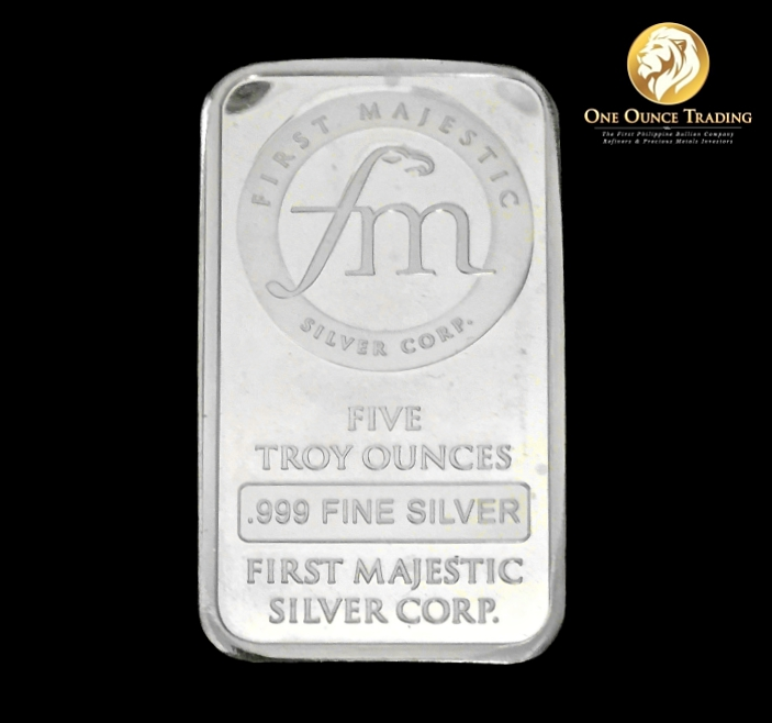 5 Oz First Majestic Silver Bar One Ounce Trading